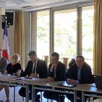 Les représentants de l'État, EDF et TERNA lors de la réunion du 7 février 2020 à Bastia