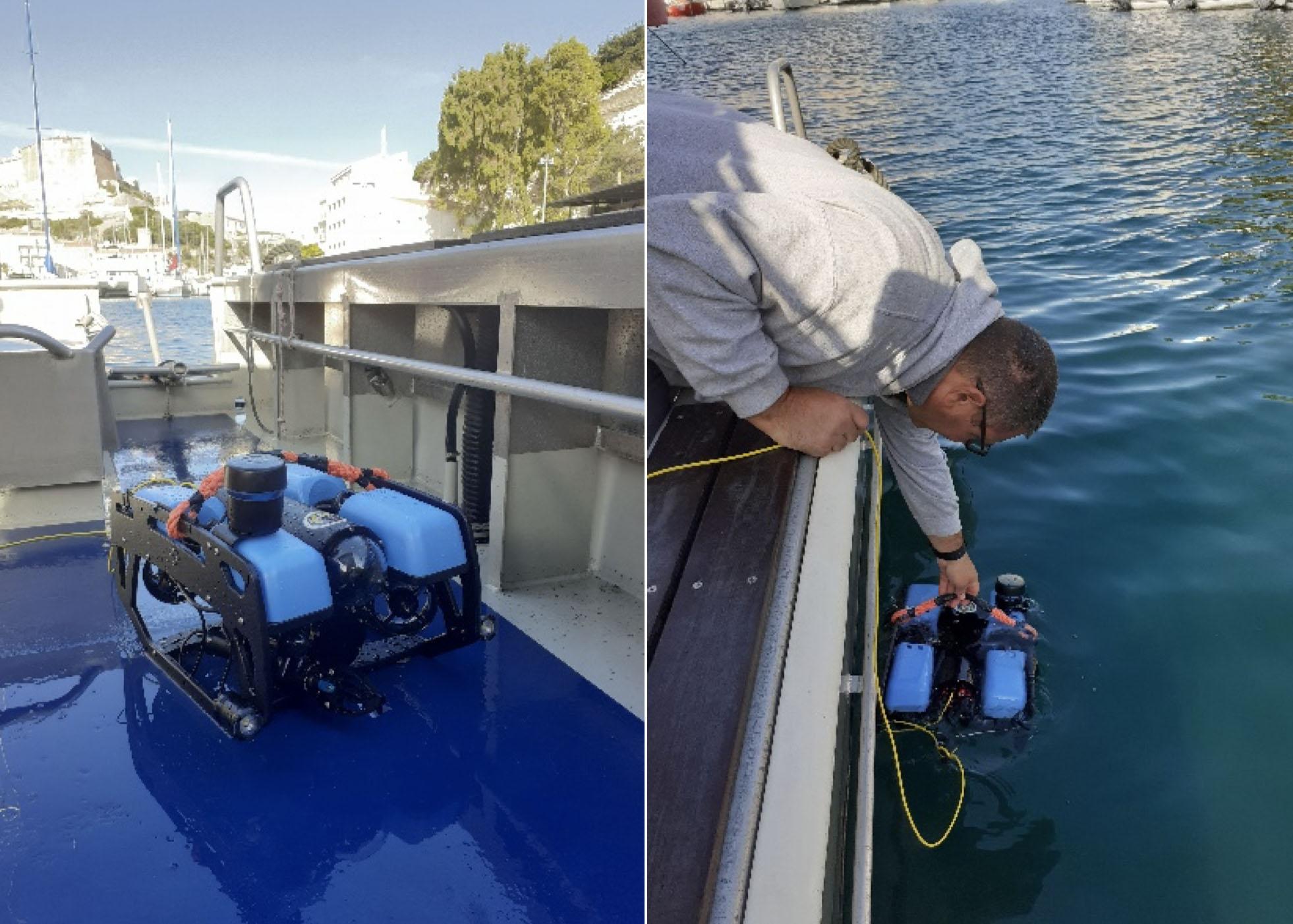 Un ROV, robot pour étudier les fonds marins